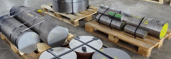 Round steel ready for dispatch